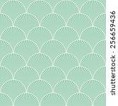 seamless turquoise japanese art ... | Shutterstock . vector #256659436