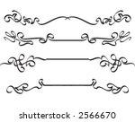 calligraphic lines | Shutterstock .eps vector #2566670