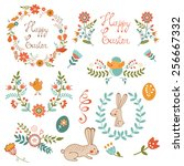 colorful easter related... | Shutterstock .eps vector #256667332