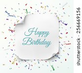 realistic curved banner on... | Shutterstock .eps vector #256669156