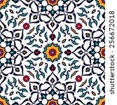 mediterranean traditional...   Shutterstock .eps vector #256672018