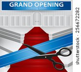 shop grand opening   cutting... | Shutterstock .eps vector #256672282