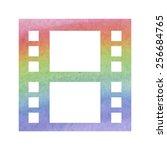film. isolated illustration... | Shutterstock .eps vector #256684765