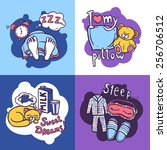sleep time design concept set... | Shutterstock .eps vector #256706512