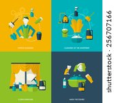 cleaning design concept with... | Shutterstock .eps vector #256707166