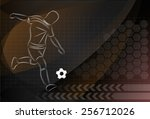 vector football background | Shutterstock .eps vector #256712026