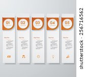 design clean number banners... | Shutterstock .eps vector #256716562