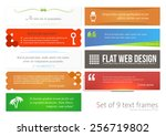set of 9 frames. colorful quote ... | Shutterstock .eps vector #256719802