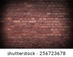 close up of a red worn brick... | Shutterstock . vector #256723678