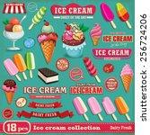 vintage ice cream poster design ... | Shutterstock .eps vector #256724206