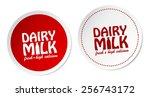 dairy milk stickers | Shutterstock .eps vector #256743172