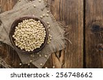 soy beans  detailed close up... | Shutterstock . vector #256748662