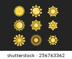 Set Of Sun Icons  Colors In...
