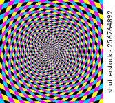 colorful vortex spiral  ... | Shutterstock .eps vector #256764892