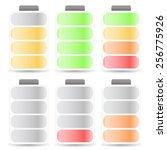 battery level indicator set...