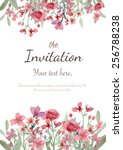 Flower Wedding Invitation Card...