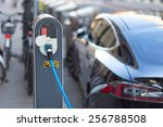 power supply for electric car...   Shutterstock . vector #256788508