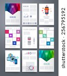 set of infographics  flyer and... | Shutterstock .eps vector #256795192