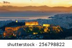 panorama of athens  greece.... | Shutterstock . vector #256798822