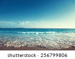 sunset on seychelles beach | Shutterstock . vector #256799806