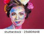 the creative  bright  color... | Shutterstock . vector #256804648