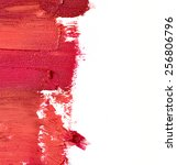 smudged lipstick isolated on... | Shutterstock . vector #256806796