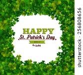 saint patricks day vector... | Shutterstock .eps vector #256808656
