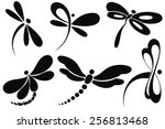 Stock vector butterfly sign 256813468