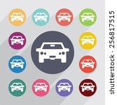 car circle  flat icons set.... | Shutterstock . vector #256817515
