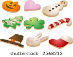 festive seasonal cookies ...   Shutterstock .eps vector #2568213