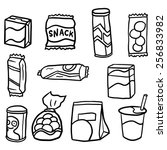 vector set of snack | Shutterstock .eps vector #256833982