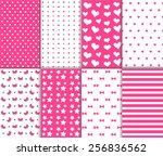 Set Of Cute Abstract Seamless...
