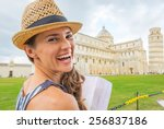 portrait of smiling young woman ... | Shutterstock . vector #256837186
