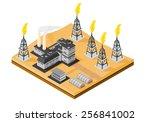 a vector illustration of an oil ... | Shutterstock .eps vector #256841002