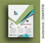 real estate agent flyer  ... | Shutterstock .eps vector #256849258