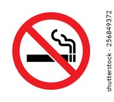 no smoking vector sign | Shutterstock .eps vector #256849372