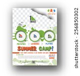 summer camp flyer   poster... | Shutterstock .eps vector #256850302