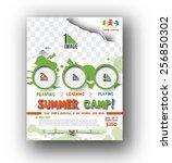 summer camp flyer   poster... | Shutterstock .eps vector #256850302