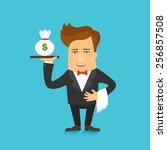 business man cartoon character... | Shutterstock .eps vector #256857508