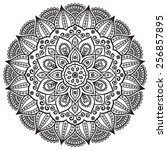 mandala. ethnic decorative... | Shutterstock .eps vector #256857895