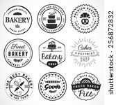 typographical bakery labels ... | Shutterstock .eps vector #256872832