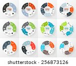 vector circle arrows... | Shutterstock .eps vector #256873126