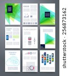 templates. vector flyer ... | Shutterstock .eps vector #256873162
