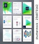 templates. vector flyer ... | Shutterstock .eps vector #256873162