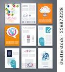 templates. vector flyer ... | Shutterstock .eps vector #256873228