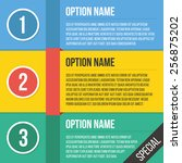 abstract number options banner...