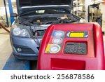 servicing car air conditioner...   Shutterstock . vector #256878586
