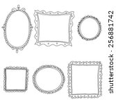 vintage sketch frames  isolated ... | Shutterstock .eps vector #256881742