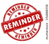 payment reminder rubber stamp   Shutterstock .eps vector #256888558