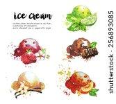 ice cream   Shutterstock .eps vector #256893085
